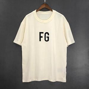 19SS Atacado FOG ESSENTIALS 6th Hip-hop Solto-encaixe Logotipo Popular Dos Homens de Manga Curta Designer de Camisas de T Camisas Polo Camisas Dos Homens