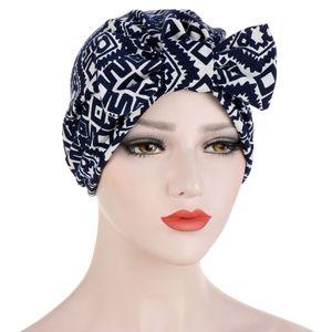 Fashion Women Lady Indian Styles Caps Flower Turban Head Wrap Hat Band Bandana Hijab Muslims Shower Cap