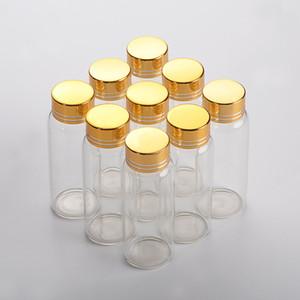 27 * 24PCS 70MM 25ML الزجاجات الألومنيوم المسمار الذهبي كاب فارغة واضحة وشفافة السائل هدية الحاويات الجرار رغبة منها زجاجة