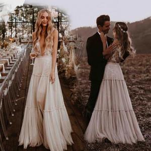 2020 fora do casamento Shoulder Lace Vestidos Tulle Applique Tribunal Trem Jardim Um casamento Linha vestidos de noiva Vestidos de mariée BM1510