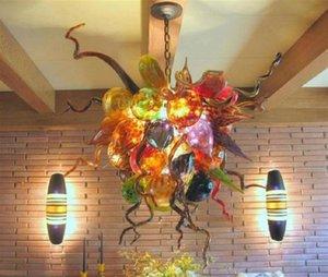 Contemporary Colorido Ros de vidro para lustres Deft design elegante Murano Vidro Candelabro de suspensão de Diwali Luzes decorativas