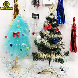 25 cm Mini Árvore de Natal Mesa de Festa de Casamento Xmas Centerpiece Presente Dos Namorados Tule Árvore Tutu DIY Fontes da Festa de Aniversário de Casamento