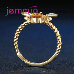 New Arrival Women Fashion Full Sets Bee Jewelry 925 Silver Trendy Gold Color Bracelet Earrings Pendant Necklace For Sale