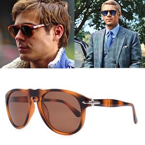 2020 lüks Klasik Vintage Pilot Steve Stil Polarize Güneş Gözlüğü Erkek Sürüş Marka Tasarım Güneş Gözlükleri óculos De Sol 649 yüksek kalitede