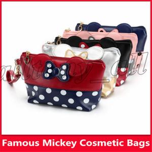 2019 sacos quentes cosméticos americanos do tipo de Mickey da venda com 5 tipos de capacidade e de alta qualidade grandes