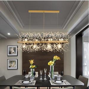 Snowflake Chandelier Nordic lâmpada do estilo de personalidade criativa Modelo de cristal atmosfera de luxo Luz Sala Lustres Iluminação