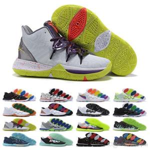 Venta grande para hombre Bandulu x Zapatos Kyrie 5 Tvpe 3 EP baloncesto para el Día de Pascua barato Irving 5s las zapatillas de deporte de diseño de lujo