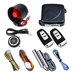 12V Car One-key Start PKE Keyless Entry System Universal Anti-theft Device Push Button Remote Starter Stop Car Alarm Syatem