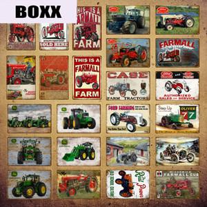 Vintage John Deere Poster Farmall Traktor Metallblechschilder Ford Farming Wall Art Malerei Plaque Bauernhof Dekor YI-061