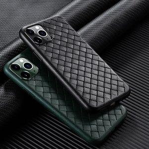 De luxe tissage grille Téléphone Cas Pour iPhone 7 8 6 6 S Plus X XR XS max 11 Pro Max Respirant Armure Shell Souple Retour TPU Cas De Couverture