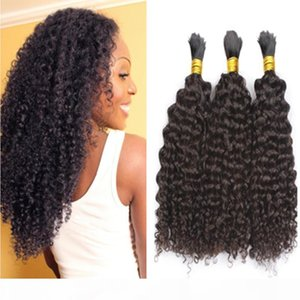 Human Hair Bulk 3 Bulks Deal Cheap Brazilian Kinky Curly Bulk Hair No Weft in Bulk for Braiding