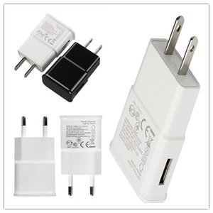 Haute qualité 5 V 2A 1A 2 Port USB Power Wall Wall Charger 2 Adaptateur Voyage US EU Plug Pour Samsung Wall Charger Gros