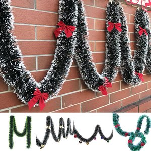 Free Shippimh 200cm Christmas Bowknots Balls Garland Tree Ornament Mall Bar Party Supplies