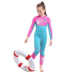 Slinx enfants plongée Serve Femme 3 mm manches longues Costume Natation Plongée sous-marine Surf Maintien au chaud Vêtements Méduse