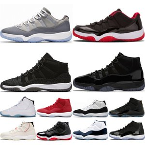 Men Women 11 Basketball Shoes 11s mens Concord 45 Legend Blue Prom Night Cool Grey space jam designer sneaker shoes size 36-45