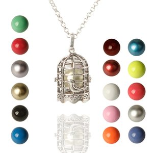 Birdcage Melodia Harmony Ball Chime Bell Pingente Colares para Mulheres Presentes