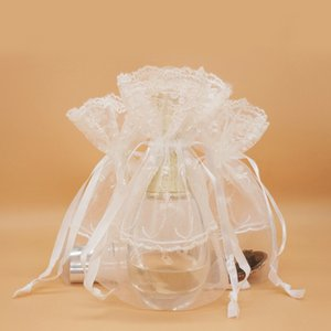 13x18cm Organza Gifts Bags Wedding Christmas Party Favors Packaging Jewelry Pouches Handmade Bag Pouch Polyester Side