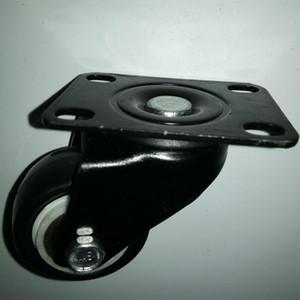 2 بوصة عجلات كتم ملابس مقاومة العالمي عجلة المطاط الخروع المذرة عجلات الأنشطة دولاب صغير التدحرج 50MM الفرامل المذرة للأثاث