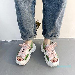 Novelty Cross-Strap Open Toe Sport Sandals Women Casual Platform Wedge Sandals Summer Outdoor Cool Beach Shoes Women 2020 26l