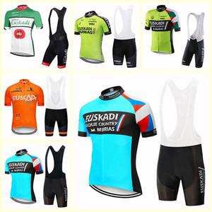 squadra Euskadi corte ciclismo Jersey breve (BIB) pantaloncini bici MTB impostare SOBYCLE Ropa Ciclismo mens pro estate in bicicletta Maillot usura B612-53