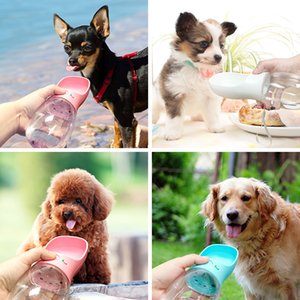 Бесплатная доставка 550 мл Pet dog with water cup out supplies outdoor drinker портативный чайник бутылка воды