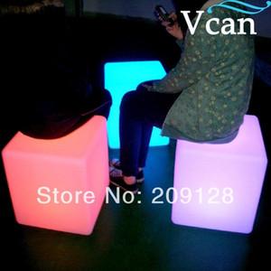 الصمام ضوء مربع الضوء كرسي مكعب الخفيفة في الهواء الطلق للماء التحكم عن بعد شحن مربع البراز PE الأثاث الإضاءة البراز