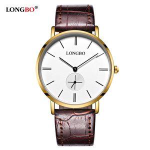 2020 Luxury Lover Gift Fashion Wristwatch Brand Classic Men Women LONGBO Waterproof Mujer Couple Watch Casual New Watches 80320 Hombre Bail