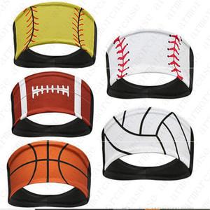 Дизайн софтбол оголовье Бейсбол Баскетбол Tie ободки Пот Тюрбан Спорт Quick Dry мужчины и женщины оголовья убор ПРОДАЖА D52216