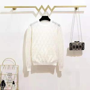 97 nouvelle arrivée 2019 automne pull col rond à manches longues lettre noir blanc rouge pull marque même style de luxe QIAN