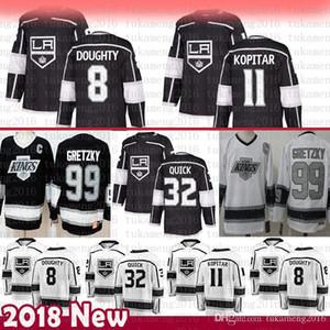UCUZ erkekler Los Angeles Kings 8 Drew Doughty Hokeyi Formalar 32 Jonathan Quick 11 Anze Kopitar 99 Wayne Gretzky Jersey