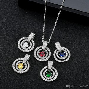 fashion brands round pendant necklace jewelery woman birthday bijoux gift new girls silver plated neck jewelry accessoires gift