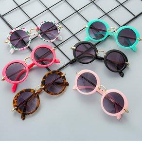 Мода Дети Детского ретро-Бич аксессуары Новых Мальчики Sunglassess Открытых Пляжная одежда Аксессуары для глаз 6 Цвета