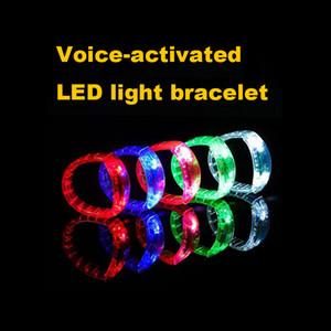 مضيئة LED سوار الصوت التي تسيطر عليها تضيء سوار المنشط الوهج فلاش الإسورة لمهرجان حزب حفلة VT0108