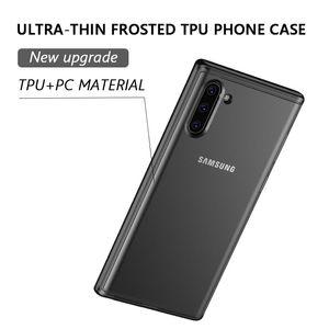 Matte Téléphone Cas n ° 2 en 1 souple TPU dur PC pour iPhone 11 Pro MAX XS XR 8 7 plus Samsung note10