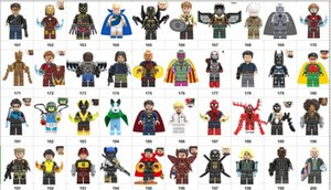 Wholsale Super heroes Mini Figures Marvel Avengers DC Wonder woman Batman Thor Hulk Ironman Spiderman building blocks kids toy gifts