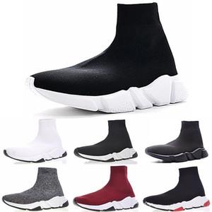 Balenciaga Sock shoes Luxury Brand hombres zapatillas de deporte del instructor de velocidad Negro Blanco Azul hombre purpurina rosa entrenadores zapato casual Runner
