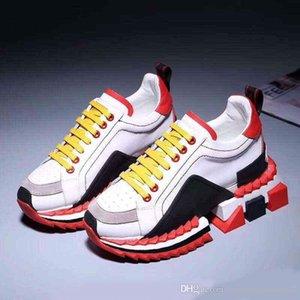 2019 calidad superior del diseñador de alta TOP inferior rojo Super King zapatillas multicolor Sorrento zapatillas para mujeres y hombres en los zapatos del diseñador van