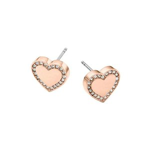 Earing Fashion Jewelry Brand Design Heart Silver Gold Rose Gold Stud New Wholesale Earrings For Women Crystal Earings Freeshipping