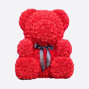Drop доставка 25\40\70 см красный плюшевый медведь роза цветок искусственные рождественские подарки для женщин День Святого Валентина подарок плюшевый медведь\Кролик