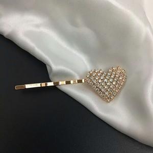 diseñador de corazón de la manera de Bling Bling del Rhinestone de la pinza de pelo del gilr del pelo de la pinza de pelo hecha a mano Accesorios para el partido del regalo del envío gratis