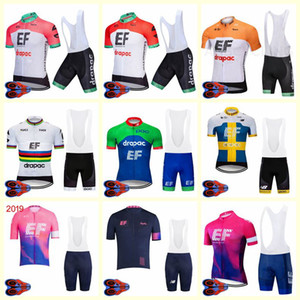 2020 Ef Education first team Cycling Short Skies jersey shorts sets Summer Breathable race Quick Drygy Road Clothes U20041610