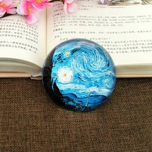 Crystal Paperweight Ornaments Van Gogh Painting Wedding Favor Office Home Desk Table Decoration Decor Gifts