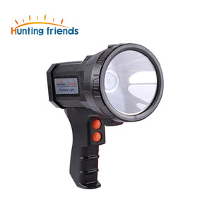 16 unids / lote Superbright USB Gun Linterna Recargable 18650 Batería Incluida 3 modos Tactiacl Spotlight con luz lateral