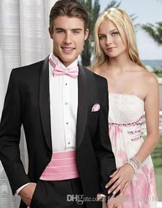 Custom Design Black Long coat Custom Made Mens Suits Wedding Groom Slim Fit Smart Casual Wedding Prom Best Man Blazer 2 Pieces (Jacket+Pant