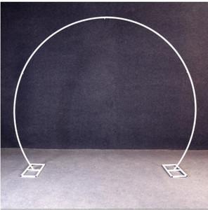 Beyaz altın U / kalp / yuvarlak halka şekli Metal Demir Arch Düğün Arka Plan standı parti Dekor Yapay Çiçek balon raf Standı