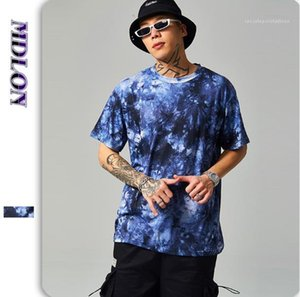 T-shirts personnalisés rue abstraite des hommes T-shirt en vrac d'été Tie Dye Designer Homme Vêtements col rond manches courtes