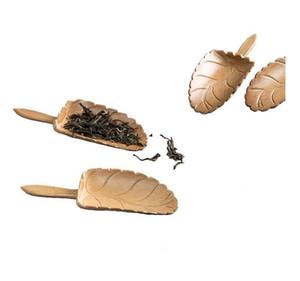 NEW good Leaf Shape Handmade Carved Natual Bamboo Tea Scoops Kung Fu Tea Spoon Teaware Supplies