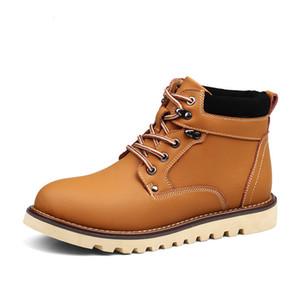 2018 ENLENBENNA Mode Cuir Hommes Bottes Printemps Automne Et D'hiver Hommes Chaussures Cheville Botte Hommes Botte De Neige Chaussure Travail 38-44