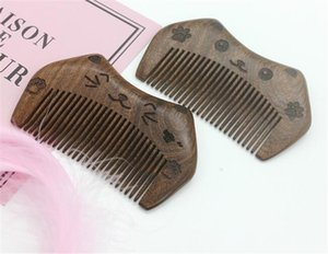 Yeni BEUTY Cep Ahşap Tarak Doğal Siyah Altın Sandal Ağacı Ahşap Combs Yok Statik Lice Sakal Tarak Saç Şekillendirme