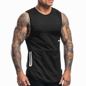 2019 estate nuovi uomini Bodybuilding allenamento senza maniche Canotte Uomo Abbigliamento Palestre fitness Jogger casual shirt Vest Y200509